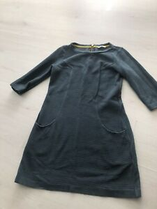 Boden Ladies Teal Ribbed Pocket Jersey Tunic Dress Sz 10 P