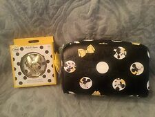 Signature Minnie Mouse Disney Parks Cosmetic Makeup Bag & Compact Mirror NWT