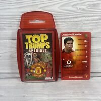 Top Trumps Manchester United Specials 2003 | Rookie Christiano Ronaldo Card Set
