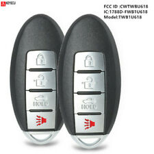 2*Replacement Smart Remote Key Fob 4B for Infiniti M35 M45 2006-2010 - Cwtwbu618 (Fits: Infiniti)