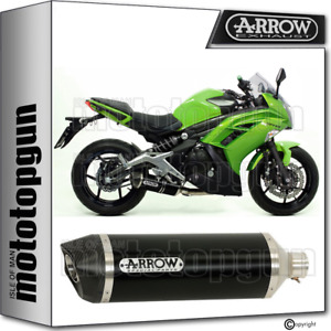 ARROW EXHAUST HOMOLOGATED RACE-TECH CARBY ALUMINIUM BLACK KAWASAKI ER-6F 2015 15