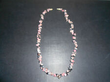 Mixed gemstone chip necklace