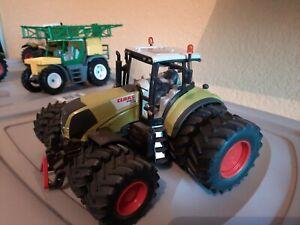 SIKU véhicule ferme tracteur 1/32 claas axion 840  roues jumelées  17 cm long