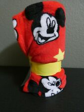 Disney Store Mickey Mouse Face Red Fleece Throw Blanket Warm Soft 60x50 New