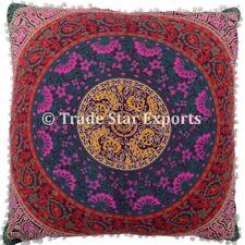 Indian Mandala Cushion Cover Euro Sham Pillow Case 26x26 Square Cushions 2 Pcs