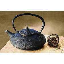 Cast Iron Teapot Infuser 38-Ounce Japanese Kettle Black Copper Kitchen Dining