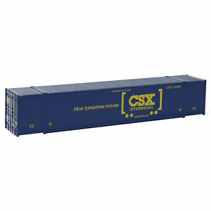 1pc/3pcs/5pcs HO Scale 1:87 53ft Shipping Container 53' Cargo Box Model Railway
