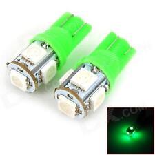 Bright GREEN T10 LED 5SMD Car Light Bulbs 12V W5W Interior Dash