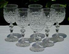 Etzel - Service de 6 verres à vin en cristal taillé. Signés