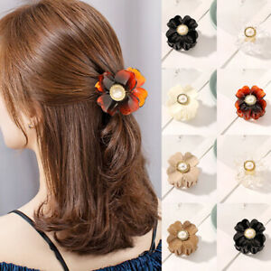 Large Pearl Flower Shaped Hair Claw Hair Clips Clamps Hair Accessories Hairpins
