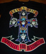 VINTAGE STYLE GUNS N ROSES Appetite For Destruction SKULLS T-Shirt MEDIUM NEW