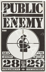 Public Enemy - The Afros - 1989 Vintage Music Poster