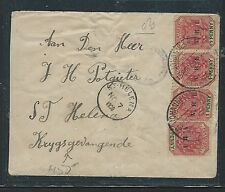TRANSVAAL (PP0312B) 1900 CENSOR COVER TO POW ST HELENA