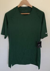Nike Pro Combat Men's Dri-Fit Green Compression Athletic Shirt Size XXL