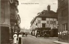 REAL PHOTOGRAPHIC POSTCARD OF OLD BUILDINGS FORE STREET, HERTFORD, HERTFORDSHIRE