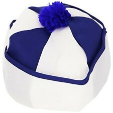 Sailor Fabric Blue/wht Withbobble Disguise Hats Caps & Headwear For Fancy Dress