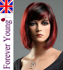 Ladies Short Black Red Blend Wig Classy Bob Style From Premium Vogue Wigs UK b98eff983