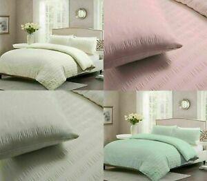 Seersucker Duvet Cover Set 100% Egyptian Cotton Bedding Sets Double King Size