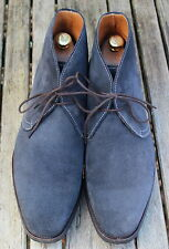 John White Westbury Classic Navy Blue Suede Chukka Boots Size UK 9