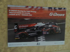 LE MANS 24 HOURS NISSAN NISMO MOTOR RACING TEAM POSTER CARD RARE COLLECTORS