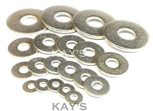 FORM G WASHERS WIDE THICK FLAT A2 STAINLESS STEEL DIN 9021 METRIC SIZES M2 - M20