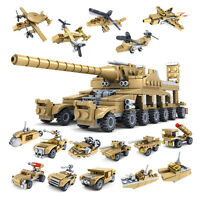 New Educational Toy Set Army Military Tank Aircraft Building Blocks Gift For Kid