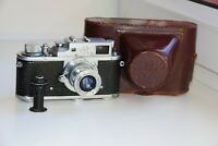 RARE 1955 Zorki-3M USSR Rangefinder Film Camera copy Leica w/s lens Industar-50