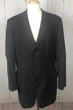 Preowned HUGO BOSS Gray Pinstriped Martin Scorsese Movie Sport Coat Blazer 44L