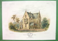 ARCHITECTURE COLOR PRINT : Germany Weimar Victorian Villa  by Architect Pichler