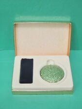 Estee Lauder Green Crystal Powder Compact NIB