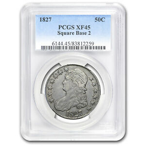 1827 Capped Bust Half Dollar Square Base 2 XF-45 PCGS