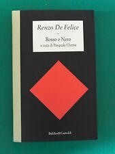 Rosso e nero - Renzo De Felice - Baldini & Castoldi - 1995