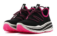 UGG Lace Runner Black Pink Running Sports Shoes Women's Sz 9 Sneaker Slip On