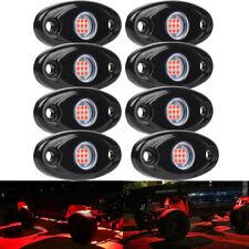 8PCS Underglow RED LED Rock Lights Neon 8Pods LED Light Off Road UTE ATV Boat