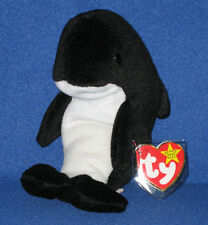 TY WAVES the ORCA WHALE BEANIE BABY - MINT with MINT TAG