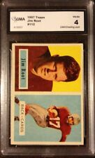 1957 Topps Football JIM ROOT #112 Chicago CARDINALS GMA GRADED VG-EX 4