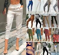 Womens Casual Pockets Trousers Plus size Bodycon Long Daily Sport sexy Pants