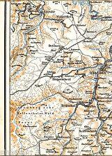 Schleiden Einruhr Hellenthal 1923 Teilkarte/Ln. Hollerath Reifferscheid Herhahn