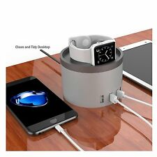 2 in 1 3-Port USB Charging Stand Dock Phone Holder Station for iPhone & iWatch