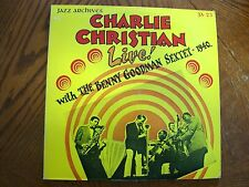 CHARLIE CHRISTIAN LIVE 1940 JAZZ ARCHIVES LP EXCELLENT VINYL BENNY GOODMAN