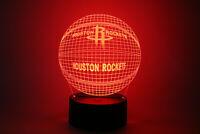 Houston Rockets James Harden Chris Paul Eric Gordon LED Lamp Home Decor Gift