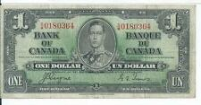 1937 Bank of Canada $1 Jan 2  SM0180364 Currency Note Very Fine