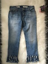 Anthropologie PILCRO High Rise Cropped Raw Hem Jeans Size 25 Boyfriend New (D)