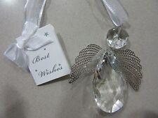 Large Diamond Angel Wedding Good Luck Charm Horseshoe Keepsake Decoration