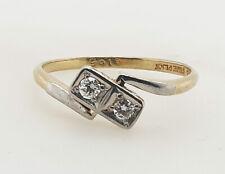 18CT Yellow Gold & Platinum Antique Diamond Ring