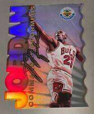 1996 Michael Jordan Upper deck command performers refractor jumbo card