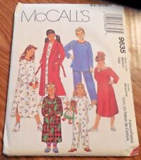 NEW McCall's Pattern 9635 Childs' sz 7-8 Robe*Nightshirt*Pajamas*Booties*Sleep