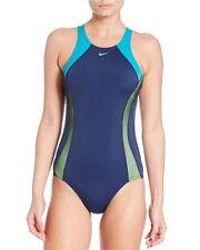 Nike Swim One Piece Sz XL Blue Multi Energy Surge Crossback Swimsuit NESS6254