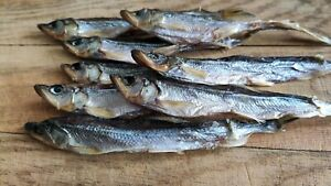 Dried Smelt fish, Salted fish jerky  ~ 300g Snack to beer ( Smelt - КОРЮШКА )