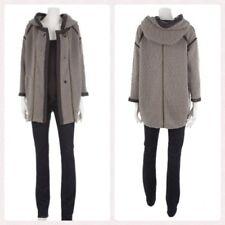 Manteau Coat ISABEL MARANT Laine bouclée & Cuir Taille 2 (38/42) ** NEUF